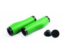 Ручки .CS-003 на руль 3-427 силиконовые эргономичные 130мм антискольз. с 2 черными фиксаторами, зеленые CLARK`S