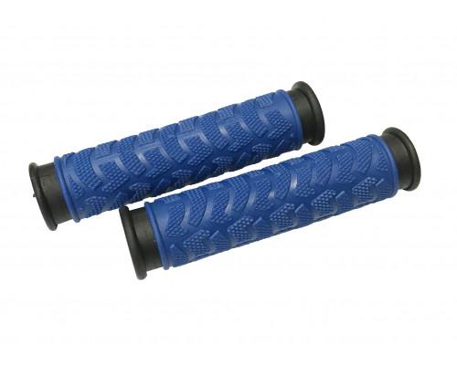 Ручки .С49BB на руль 3-457 резиновые 125мм 2-х компонентные сине-черные CLARK`S