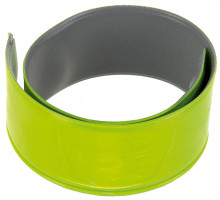 Светоотражающая лента 5-120902 на руку/ногу самозатягивающая, пара 30х340мм желтая M-WAVE