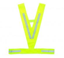 Жилет 5-120940 световозвращающий универсальный облегченный ″треугольный″ салатовый M-WAVE