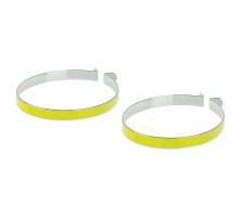 Светоотражающие стяжки 5-120967 на ногу для удержания одежды от попадания в цепь, ABS пластик, пара на блистере M-WAVE