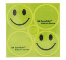Светоотражающие стикеры 5-120990 2смайлика+2лого желтые 3M SCOTCHLITE M-WAVE