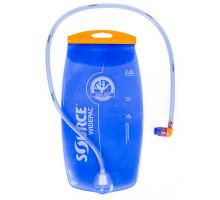 Фляга/гидропак 5-122515 2л прозрачно-голубая, антибактериальная защита, силиконовый сосок. SOURCE