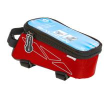 Сумочка/чехол+бокс 5-122553 на раму д/смартфона 175х80х85мм ROTTERDAM TOP размер L влагозащитный черно-красный M-WAVE