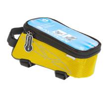 Сумочка/чехол+бокс 5-122556 на раму д/смартфона 175х80х85мм ROTTERDAM TOP размер L влагозащитный черно-желтый M-WAVE