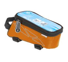 Сумочка/чехол+бокс 5-122557 на раму д/смартфона 175х80х85мм ROTTERDAM TOP размер L влагозащитный черно-оранжевый M-WAVE