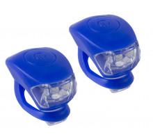 Фонарики 5-220634 COBRA IV передний 2диода/3функции +задний2диода/3функции 24г с батарейками синий корпус M-WAVE