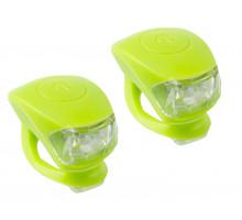 Фонарики 5-220635 COBRA IV передний 2диода/3функции +задний2диода/3функции 24г с батарейками зеленый корпус M-WAVE