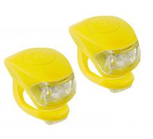 Фонарики 5-220636 COBRA IV передний 2диода/3функции +задний2диода/3функции 24г с батарейками желтый корпус M-WAVE