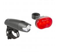 Фара+фонарь 5-220922 3диода NICHIA./2функции с линзами+3диода повышенной яркости/3функции красный до 600м с батарейками черный SMART