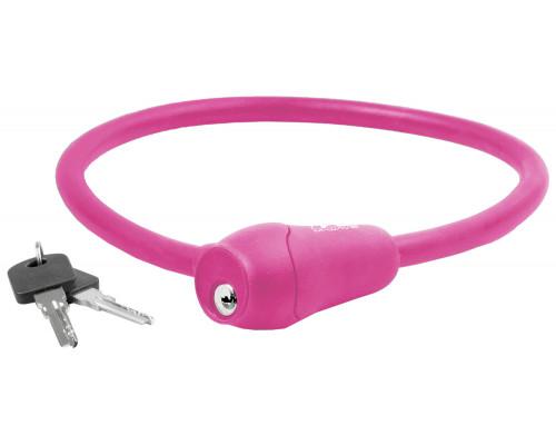 Замок 5-231048 вело 12х600мм автоматический силиконовый розовый M-WAVE
