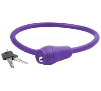 Замок 5-231049 вело 12х600мм автоматический силиконовый фиолетовый M-WAVE