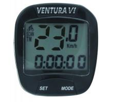 Велокомпьютер 5-244530 6 функций черный VENTURA VI