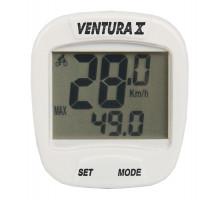 Велокомпьютер 5-244554 10 функций белый VENTURA Х