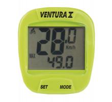 Велокомпьютер 5-244555 10 функций зеленый VENTURA Х