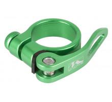 Эксцентрик 5-250947 подседельный хомут 34,9мм алюминиевый анодированный зеленый (на блистере) M-WAVE