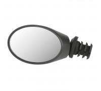 Зеркало 5-270032 овальное 75*50мм 3 степени свободы торцевое крепление на руль или рога, черное M-WAVE