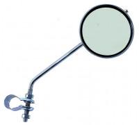 Зеркало 5-271018 плосокое круглое D=80мм регулируемый кольцевое крепление серебристый