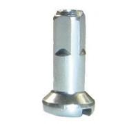 Ниппеля 5-283369 для спиц 14G (2мм) латунь 12мм (50шт в пакете) серебристая CNSPOKE