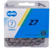 Цепь 5-303710 (5-300355) 1/2″х3/32″ 114 звеньев 7,3мм Z-7 с замком 6 скоростей в пластиковые коробке серо-коричневый КМС