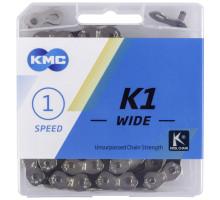Цепь 5-303795 (5-300761) 1/2″х1/8″ 100звеньев 9,4мм K1 KOOL повышенное прочности (до 1300кг) с замком в пластиковой коробке 1 скоростная BMX KMC