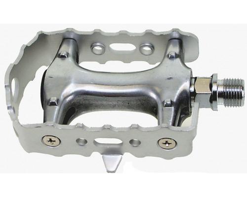 Педали 5-311024 алюминиевые с алюминиевые ободом герметичные подшипники серебристый