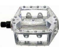 Педали 5-311330 алюминиевые литые широкие резьба 1/2″ серебристый