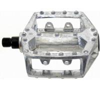Педали 5-311332 алюминиевые литые широкие серебристый