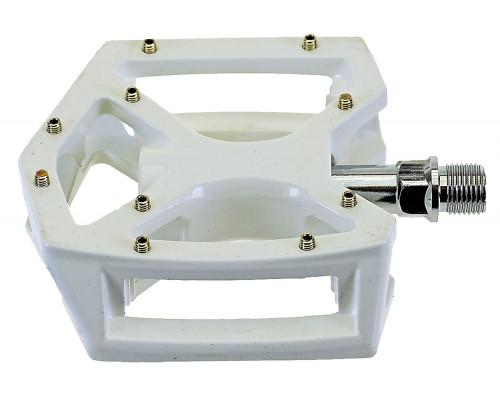 Педали 5-311334 алюминиевые литые широкие герм. ось Cr-Mo сменные шипы белые