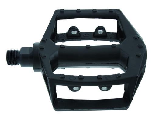 Педали 5-311348 алюминиевые литые широкие черные