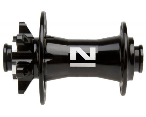 Втулка 5-325123 алюминиевая передняя 32 отверстия диск 2 картриджные подшипника для оси 15мм 217г. без эксцентика, черная NOVATEС
