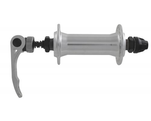 Втулка 5-325134 алюминиевая передняя 36 отверстий с эксцентриком. 100мм серебристая