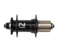 Втулка 5-326223 алюминиевая задняя 32 отверстия для для дискового тормоза 8/9 скоростей 4 картриджные подшипника 492г. без эксцентрика черная NOVATEС
