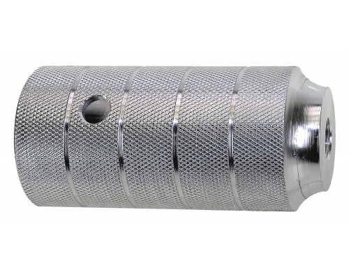 Пеги 5-329989 на ось BMX 50х110 алюминий резьба 3/8″х26TPI серебристый