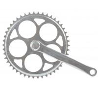 Система 5-350740 передняя 1 скоростная сталь 1/2х1/8 46зуб. шатун 170мм серебристая