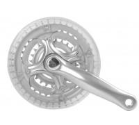 Система 5-351244 передняя 7-8 скоростей алюминий/сталь 24/34/42зуб. с защитой шатуны 165мм/для 24″ серебристая