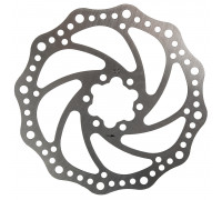 Тормозной диск 5-360600 (ротор) для дискового тормоза 160мм+6 болтов нержавейка сталь серебристый M-WAVE