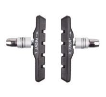 Тормозные колодки 5-361020 с крепежом ассимметричные 72мм для стальных и алюминиевых ободов черные  M-WAVE