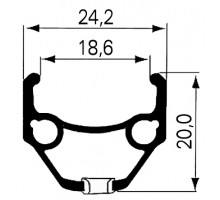 Обод .26″ 5-380330 двойной пистонированный GBS (559х24.2/18.6х20мм 36 отверстий) черный DRAGON L-719 REMERX