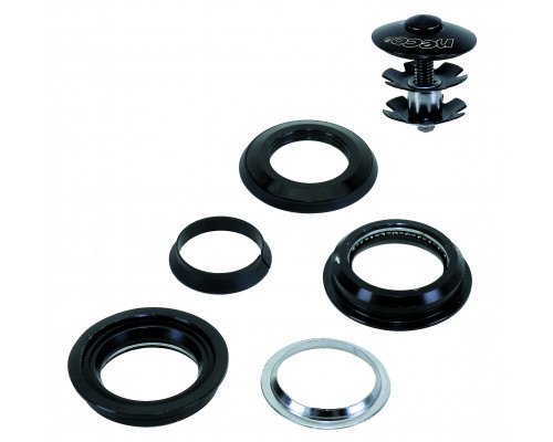 Рулевой набор 5-390320 алюминиевый/сталь полукартридж 1 1/8″ 28.6/44/30мм 79г. черный NECO