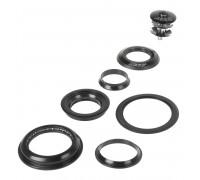 Рулевой набор 5-390322 сталь полуинтегр. полукартридж 1 1/8″-1,5″ 28,5/44/55/39,8мм черный NECO