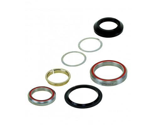 Рулевой набор 5-390360 алюминиевый интегрированный картридж 1 1/8″-1,5″ 28,5/41,8/52/39,8мм 45`x45` 79г черный NECO