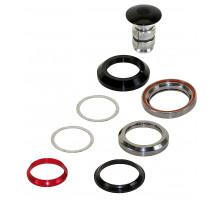 Рулевой набор 5-390514 (5-390325) алюминиевый интегрированный картридж 1 1/8″ 28,5/41,8/41,8/30мм 45`x45` 73г (подходит для карбоновых труб) черный NECO