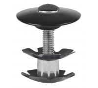 Паук 5-390570 диаметр 1 1/8″ с болтом для AHEAD-систем анодированный черный M-WAVE