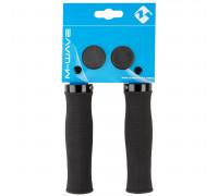 Ручки 5-410123 на руль резиновые эргономичные,с антискользящей структурой 130мм, с 1 фиксатором, черные (на блистере) CLOUD SLICK FIX 4 M-WAVE