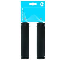 Ручки 5-410214 на руль резиновыес антискользящей структурой 130мм черные (на блистере) CLOUD SLICK M-WAVE