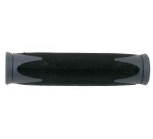 Ручки 5-410360 на руль резиновые 2-х компонентные 130мм черно-серые (на блистере) VELO