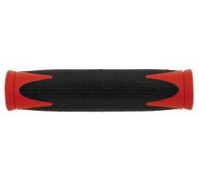 Ручки 5-410361 на руль резиновые 2-х компонентные 130мм черно-красные (на блистере) VELO