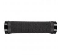 Ручки 5-410403 на руль резиновыес антискользящей структурой 130мм, с 2 фиксаторами, черные (на блистере) CLOUD SLICK FIX M-WAVE