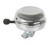 Звонок 5-420011 сталь D=59мм сильный звук защита от дождя серебристый
